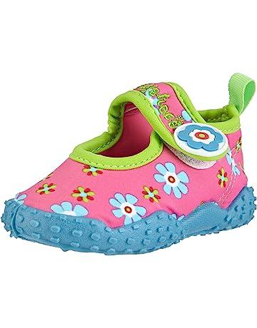 6958cf5e6551 Playshoes Girls UV Protection Aqua Shoe Flowers