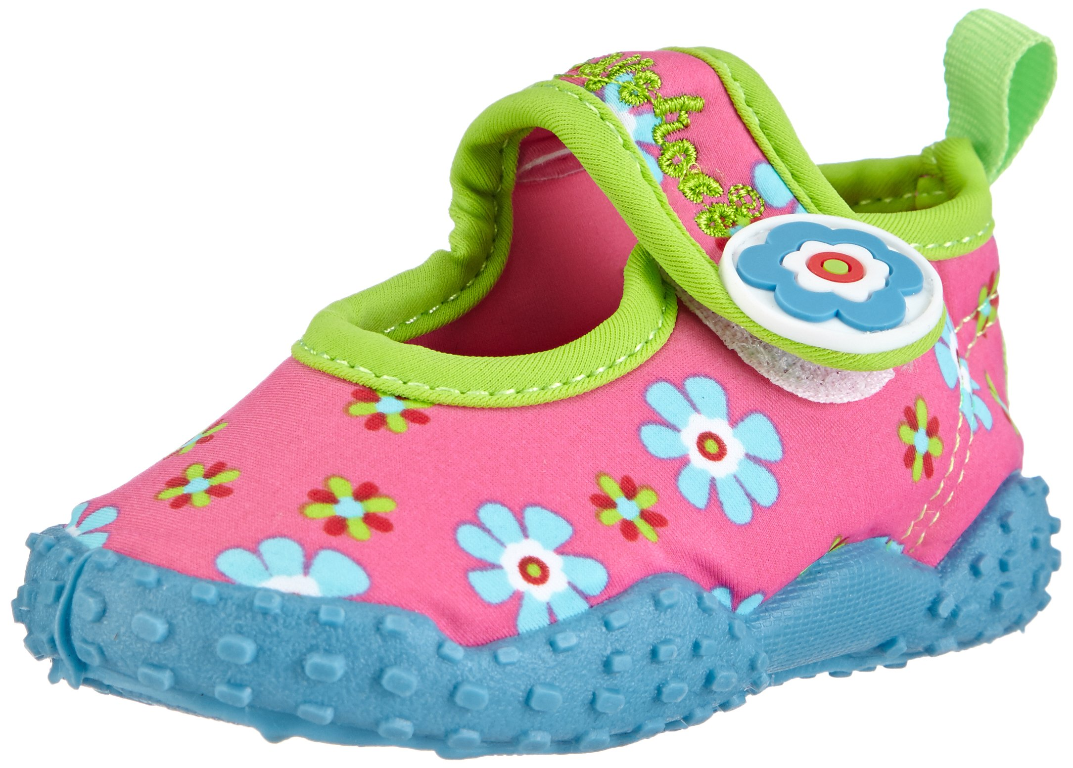 Playshoes Girl's UV Protection Flower Collection Aqua Swimming/Beach Shoes (4.5 M US Toddler) by Playshoes (Image #1)