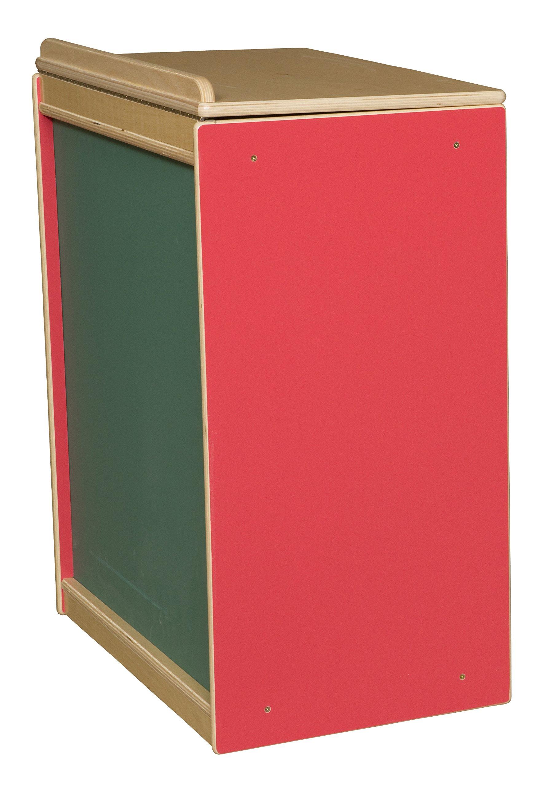 Wood Designs WD34100R Strawberry Red Big Book Storage / Display with Chalkboard