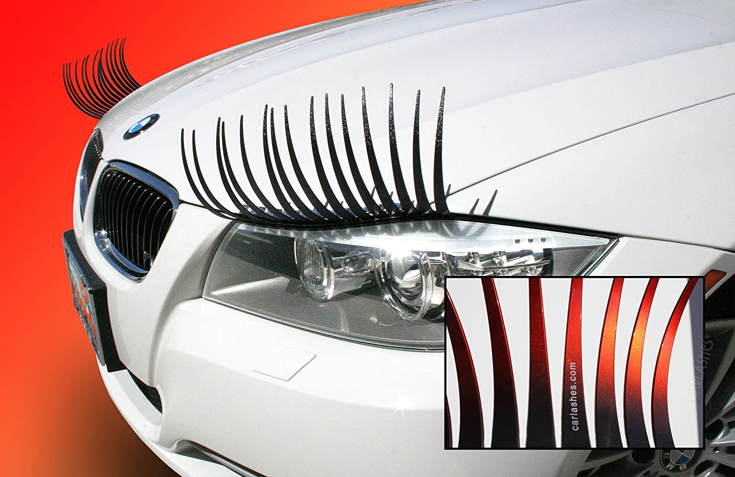 Amazon Carlashes Ombre Shaded Red Car Eyelashes Special