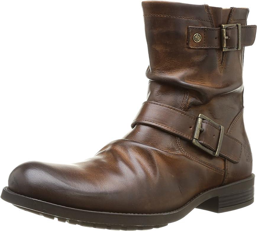 Base London Metal KY02240 - Botas de Cuero para Hombre, Color marrón, Talla 41: Amazon.es: Zapatos y complementos