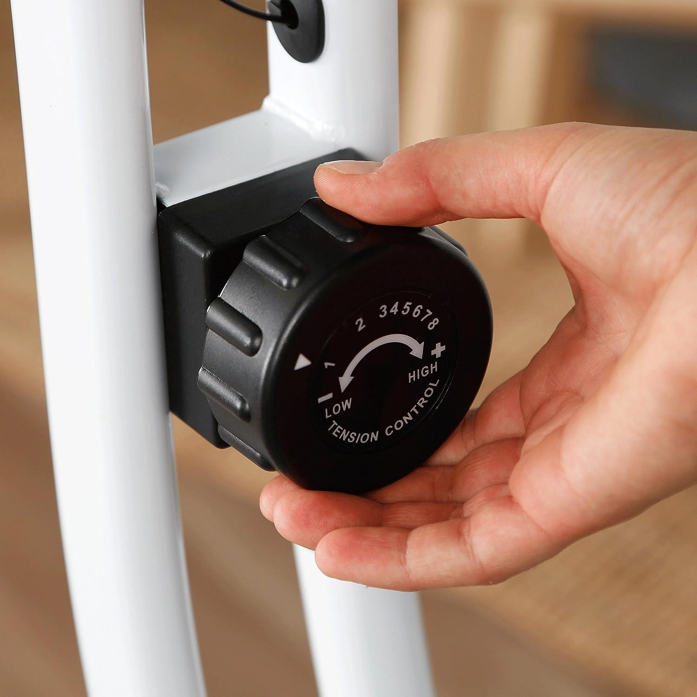 Fitnessfahrrad mit Trainingscomputer und Handpulssensoren Ultrasport Heimtrainer F-Bike 150 mit Handpuls-Sensoren klappbar navy