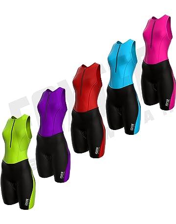 Pour course /à pied Pour femme Combinaison rembourr/ée nage et cyclisme. /à compression Combinaison pour triathlon Foxter