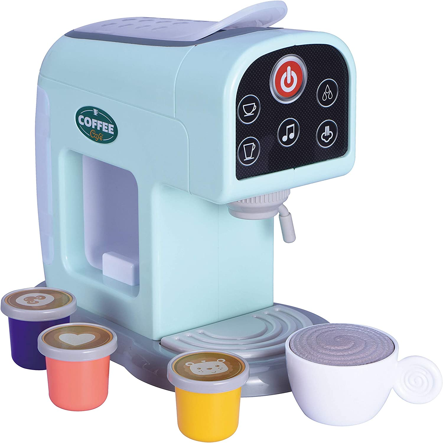 Oojami My First Kitchen Appliance Coffee Maker Set Includes Coffee pods Realistic Sounds and Lights Makes an Ideal Gift for Kids