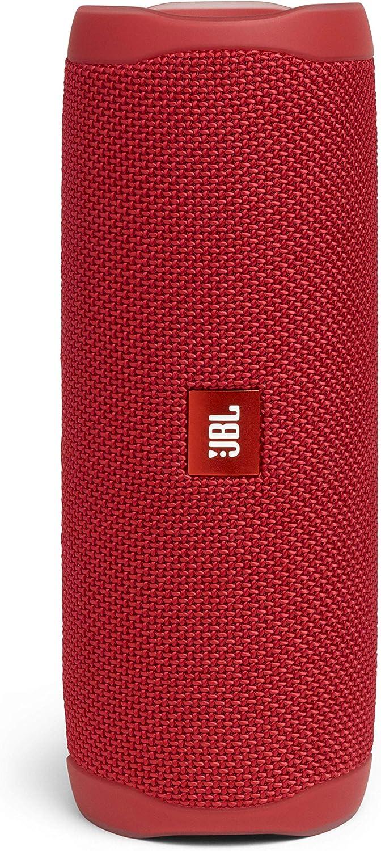 JBL Flip 5 - Altavoz inalámbrico portátil con Bluetooth, Resistente al agua (IPX7), JBL Party Boost, hasta 12h de reproducción con sonido de calidad, rojo
