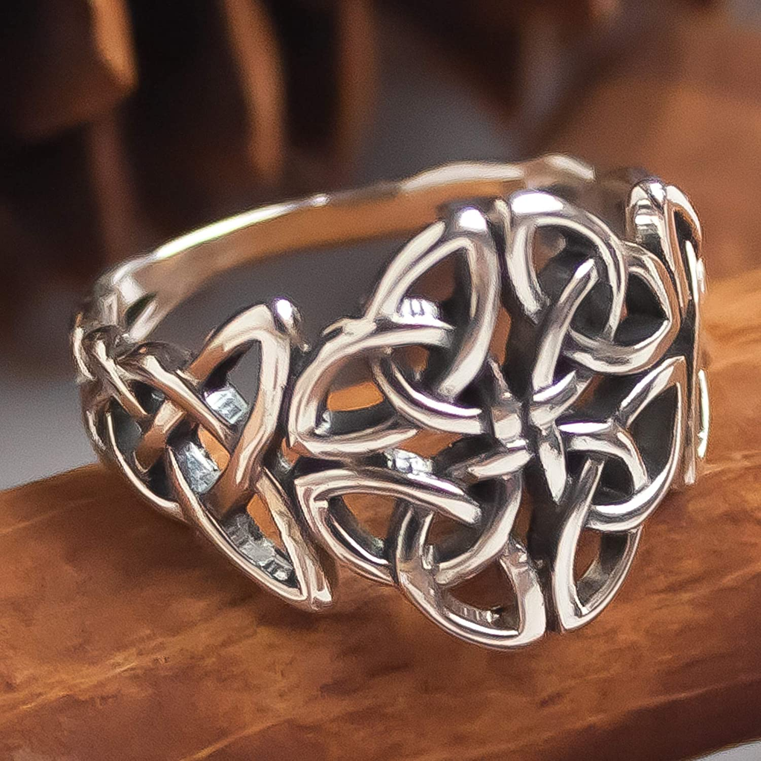 Gift For Her Handmade Ring Silver Ring Silver Celtic Ring Celtic Knot Ring Celtic Trinity Ring Trinity Ring 925 Sterling Silver Ring