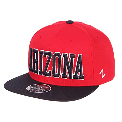 big sale 77ac8 a9460 ZHATS Arizona Wildcats 2-Tone Z11 Adjustable Snapback Cap - NCAA Flat Bill  6-