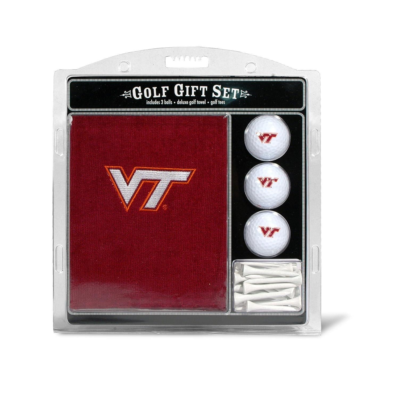 Team Golf NCAA Gift Set Embroidered Golf Towel 3 Golf Balls 14 Golf Tees 2 3 4 Regulation Tri Fold Towel 16 x 22 100% Cotton