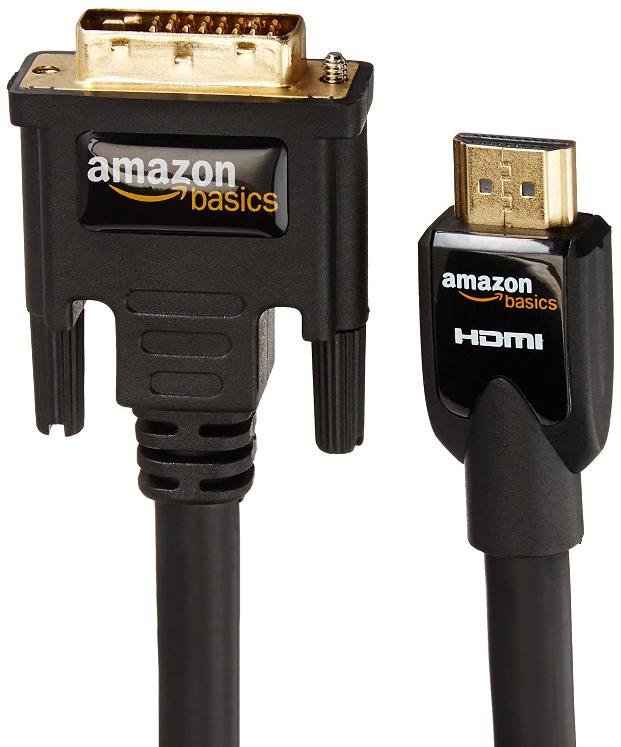 Amazon com amazonbasics hdmi to dvi adapter cable 25 feet 7 6 meters home audio theater