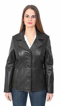 Pour Hip Cuir En Longueur Blazer Dames Manteau Equipée Classique 40Enqzw