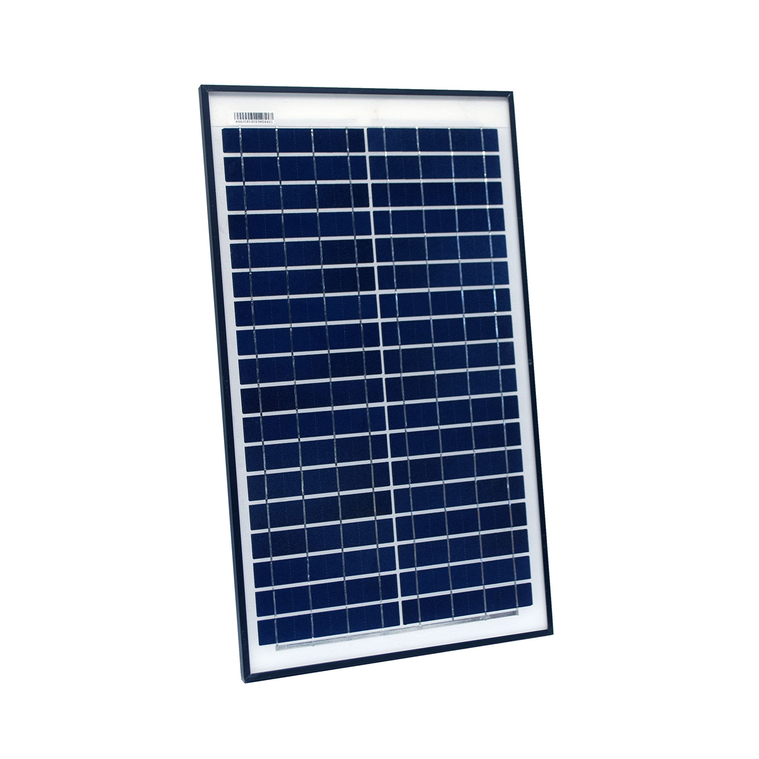 ALEKO PP25W12V 25 Watt 12 Volt Polycrystalline Solar Panel for Gate Opener Pool Garden Driveway