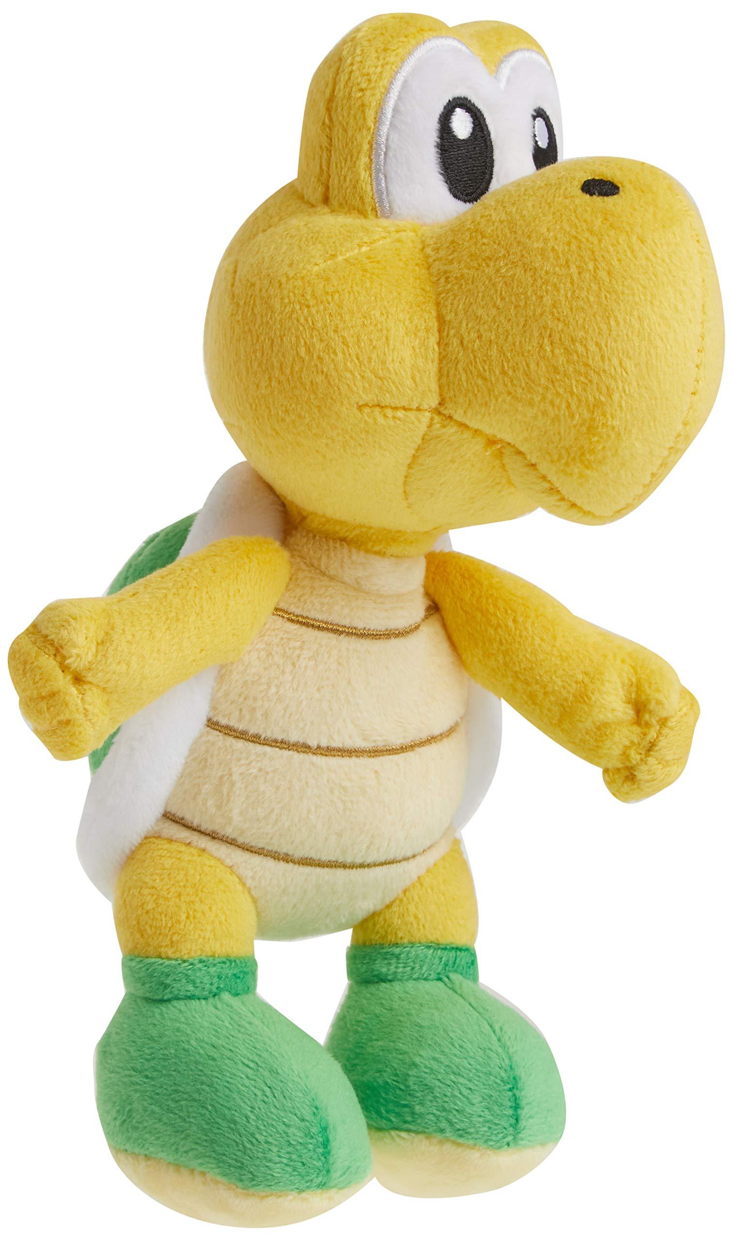 "Little Buddy Super Mario All Star Collection 1425 Koopa Troopa Stuffed Plush, 7"",Multi-Colored"