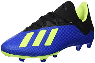 adidas Herren X 18.3 Fg Fußballschuhe, bleu Marine/Jaune Fluo/Noir, Eu