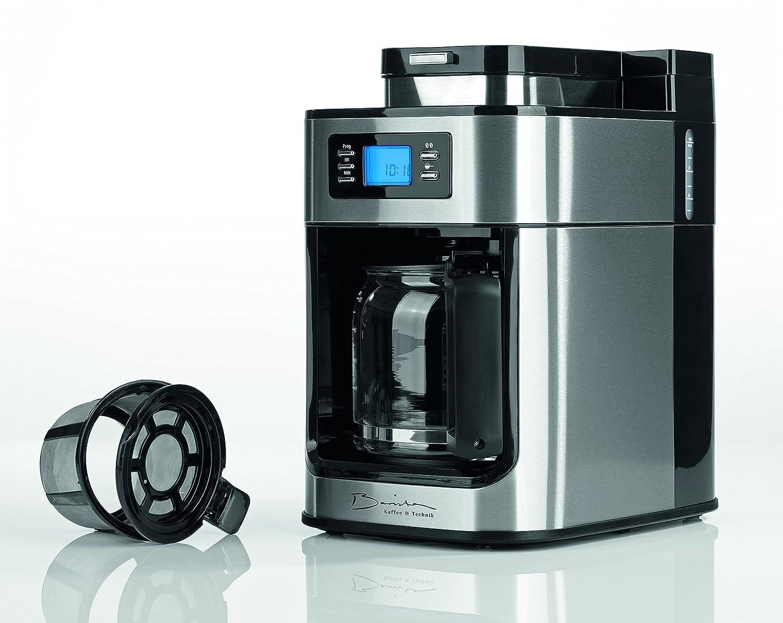Barista 09925 Cafetera con molinillo integrado | 1050 W | Acero Inoxidable | Cafetera Eléctrica | Cafetera de émbolo (| Café: Amazon.es: Hogar