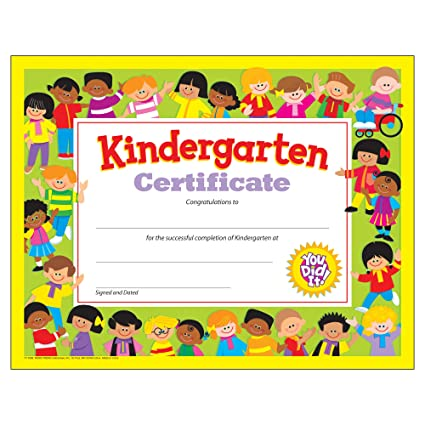 amazon com trend enterprises inc kindergarten certificate 30 ct
