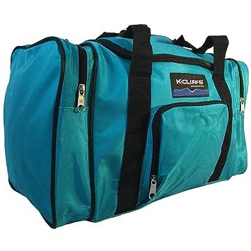 Amazon.com   Sport Duffle Bag Fitness Gym Bag Luggage Travel Bag Sports  Equipment Gear Bag (Teal)   Sports Duffels 6044c30993