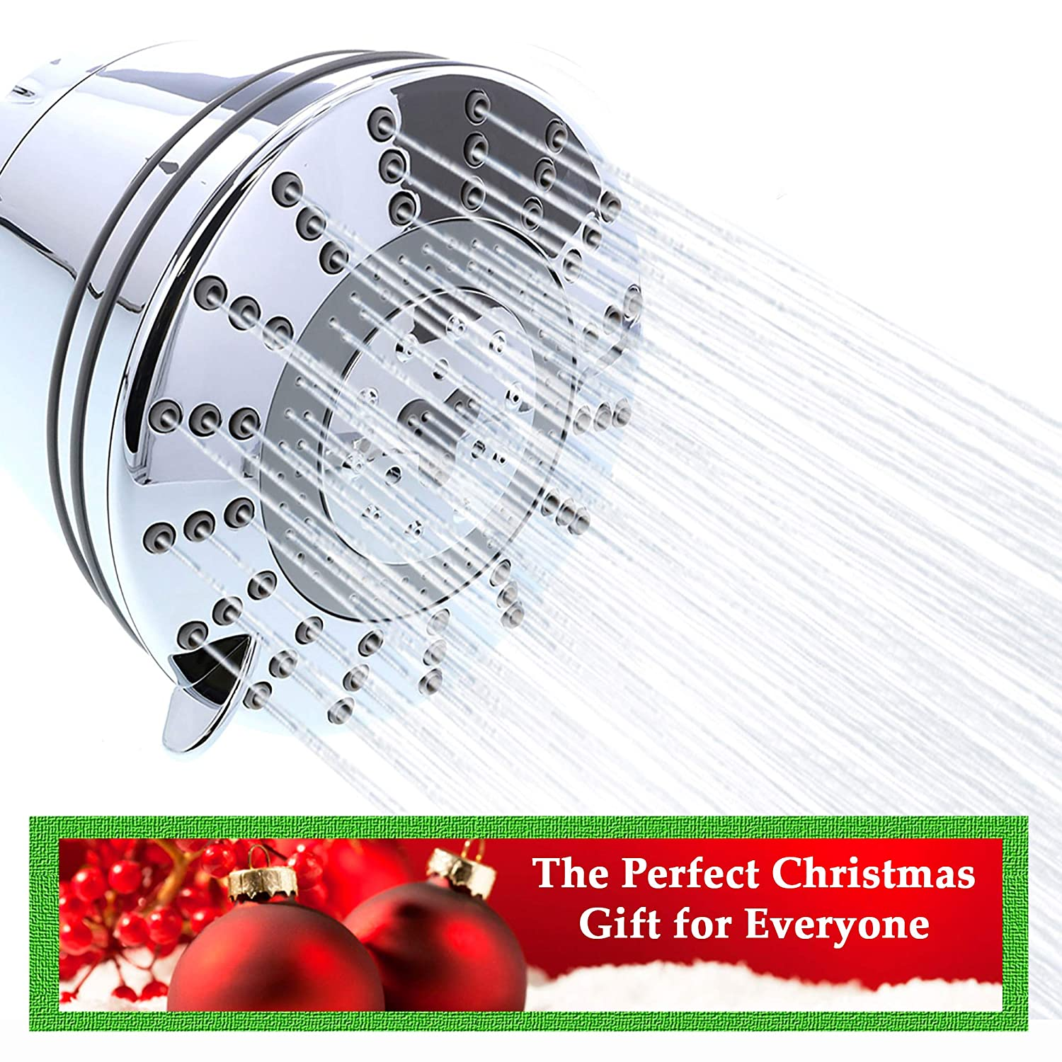 Shower Head with Built-in Water Filter   Amazing Multi-Setting Filtered Showerhead Removes Chlorine, Chemicals & Odors   Helps with Eczema, Acne, Hair & Health   Includes 1st Filter by ClearlyFiltered