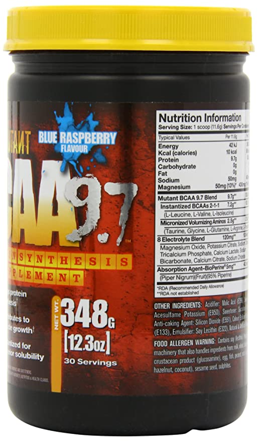 Mutant BCAA 9.7 Blue Raspberry - 348 gr: Amazon.es: Salud y cuidado personal
