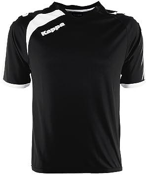 Kappa Pavie SS Camiseta Fútbol, Unisex, Negro, 6Y/8Y