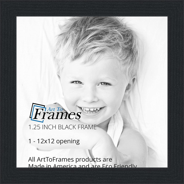 amazoncom arttoframes 12x12 inch black picture frame womfrbw72079 12x12 single frames