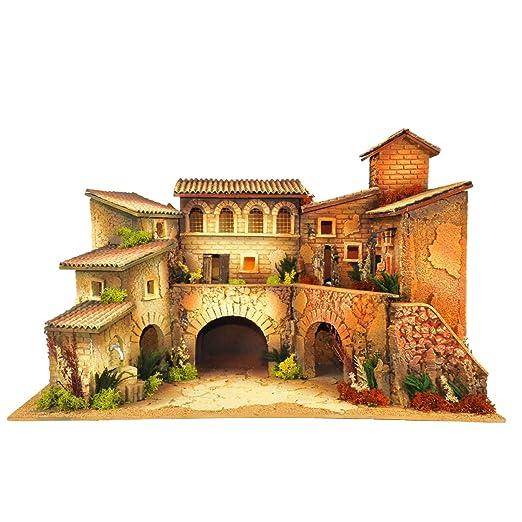 De Sisinno - Paisaje Borgo con caseta para Fuente y Horno, 60 x 40 ...