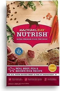 Rachael Ray Nutrish Super Premium Dry Dog Food, Beef, Pea & Brown Rice Recipe