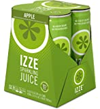 IZZE Fortified Sparkling Juice, Apple, 4 Count, 8.4 oz Cans