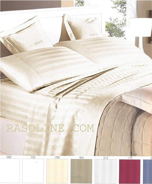 Completo sábanas matrimonio (satén de algodón puro Rigato Color ...
