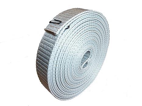 Rollladengurt Rollladenband Maxi 50m Rolle Rolladen Rollo Gurtband 22mm grau