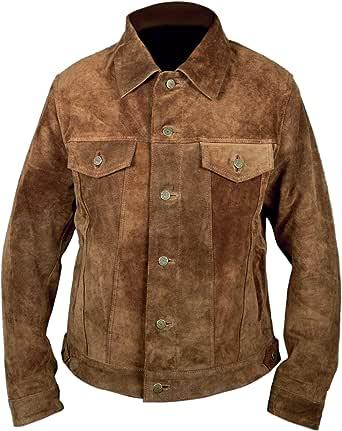 F&H Men's Genuine Suede Cowhide Leather Wolverine Logan Hugh Jackman Jacket