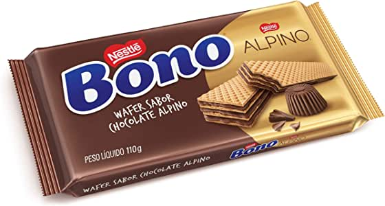 Biscoito Wafer, Alpino, Bono, 110g