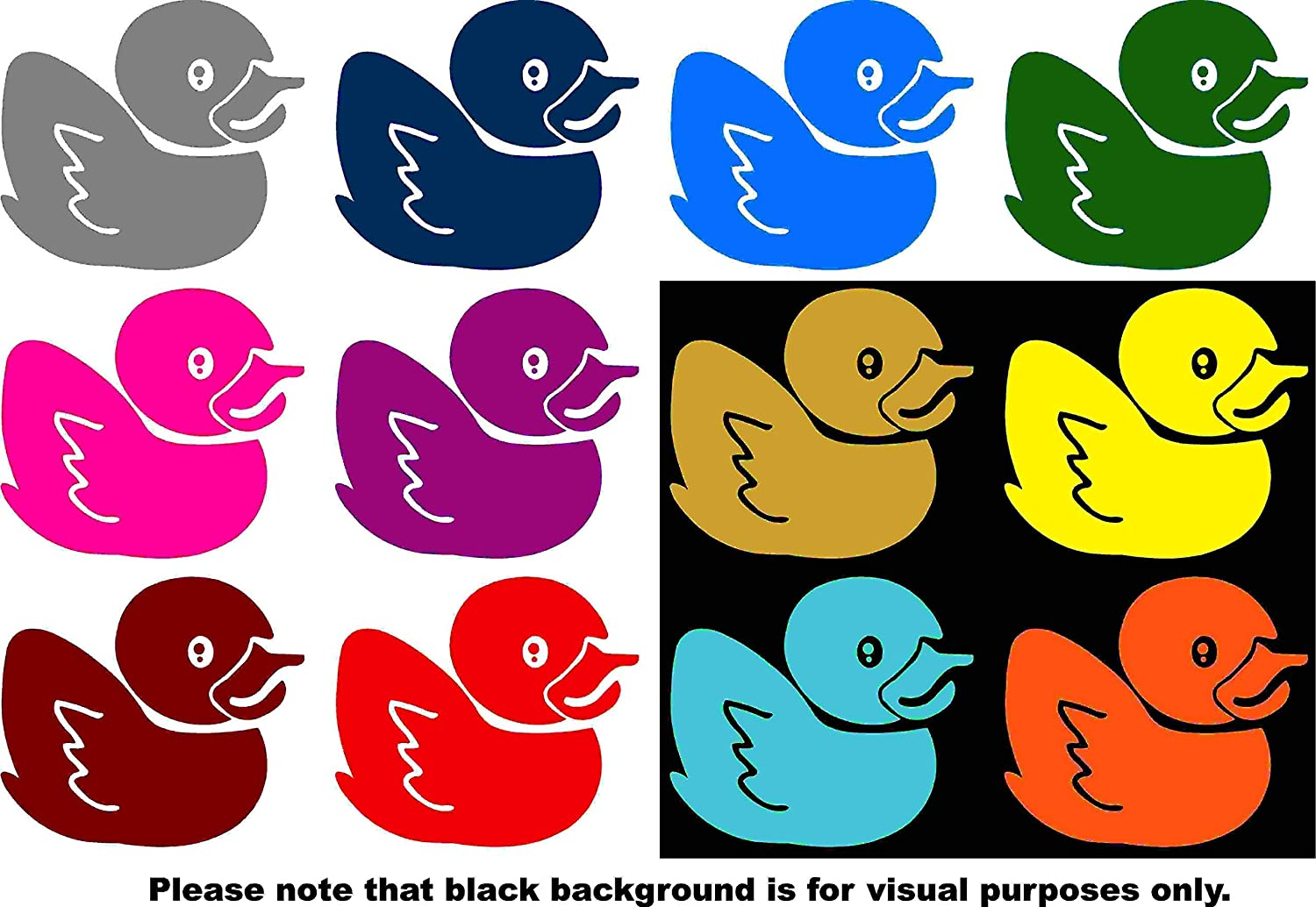 Animal Rubber Ducky Car Window Tumblers Wall Decal Sticker Vinyl Laptops Cellphones Phones Tablets Ipads Helmets Motorcycles Computer Towers V and T Gifts