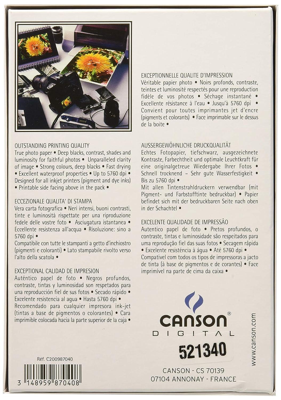 Amazon.com: Canson Infinity Digital Photogloss Photo Paper ...