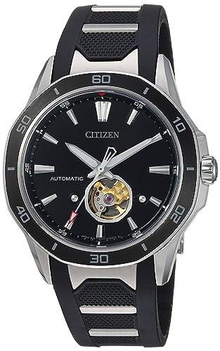 Citizen Signature Reloj de hombre automático 44mm dial negro NB4018-04E: Amazon.es: Relojes