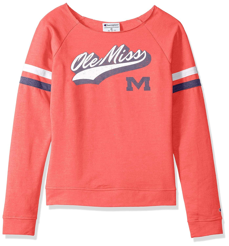 X-Large NCAA Ole Miss Rebels Womens NCAA Womens Long Sleeve Fall Fashion Sweatshirtchampion NCAA Womens Long Sleeve Fall Fashion Sweatshirt CHAFK Athletic Red Champion