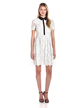 00ee2b9a6a198 Tommy Hilfiger Women s Floral Outline Lace Shirt Dress at Amazon ...