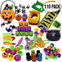 THE TWIDDLERS Set di 110 giocattoli a tema Halloween per feste - Perfetti come Borsa regalini, feste di compleanno, Festa sacchetti Bomboniere, dolcetto o scherzetto, Halloween, Natale, ecc