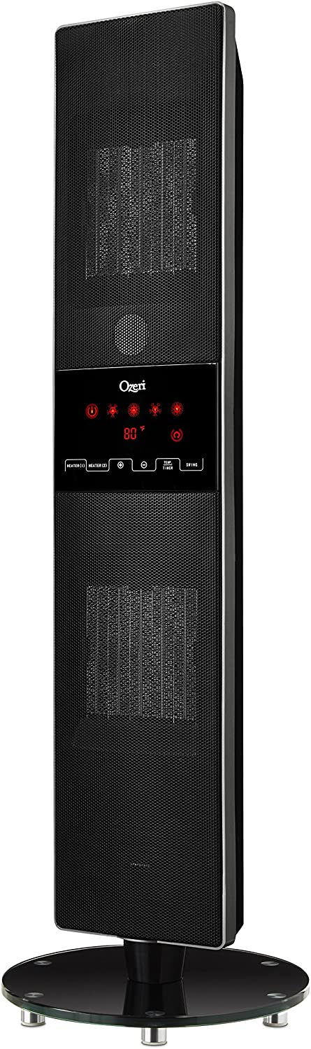 Ozeri OZH1 Dual Zone Oscillating Heater with Remote
