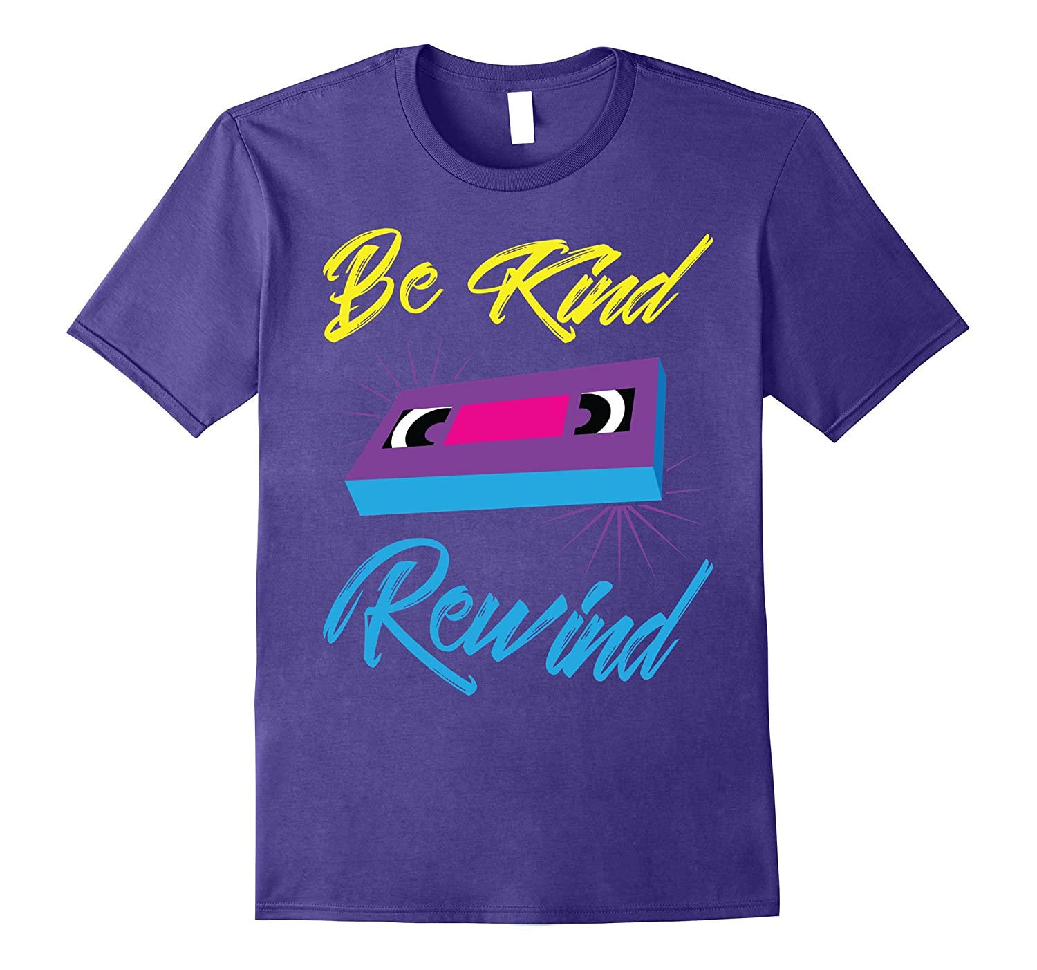 Funny VHS VCR Shirt - Be Kind Rewind Retro Vintage 80s 90s T-ah my shirt one gift