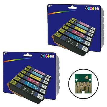 2 Sets of non-original XL Ink Cartridges for Epson Expression Photo XP-55  XP-750, XP-760, XP-850, XP-860, XP-950, XP-960