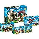 Playmobil Sauvetage en Montagne, Set complet, composé de: 9126, 9127, 9128, 9129, 9130