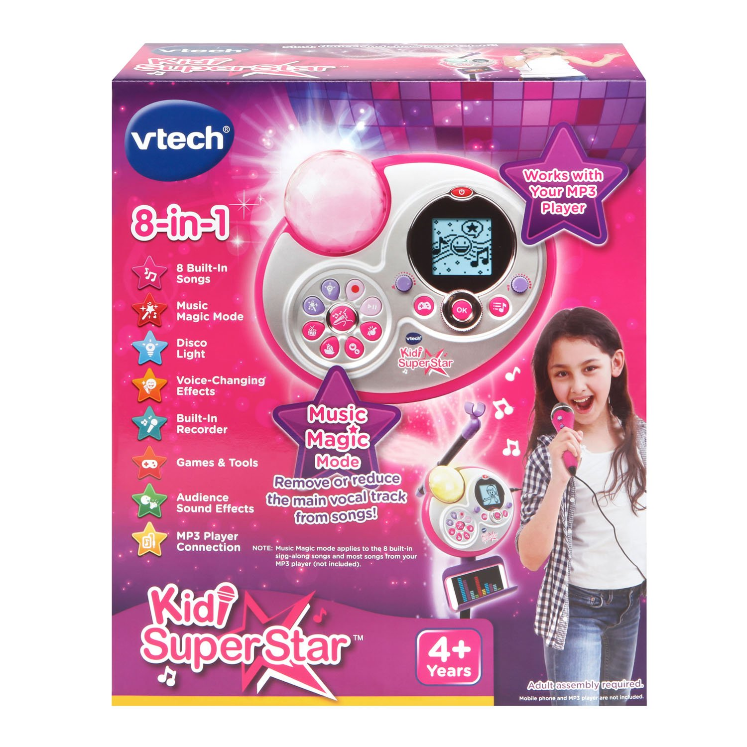 VTech Kidi Super Star Karaoke System with Mic Stand Amazon Exclusive by VTech (Image #7)