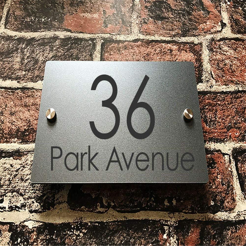 Placa de dirección adaptada a las necesidades del cliente acrílico moderno exterior de la calle de la puerta en casa