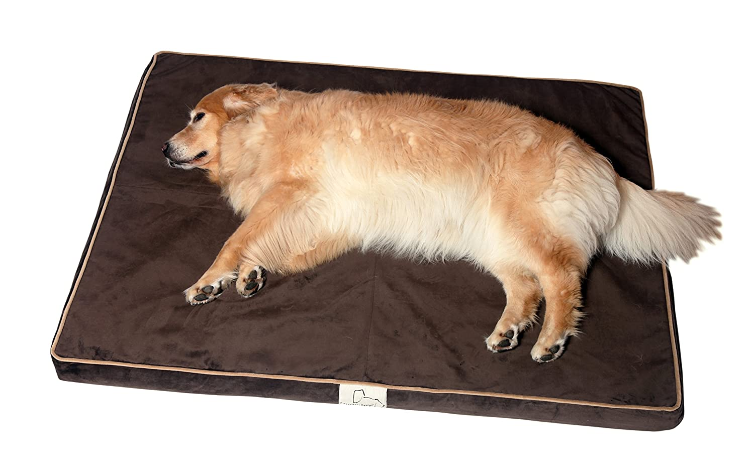 Chocolate Extra Large Chocolate Extra Large Floppy Ears Design Microfiber Gentle Giant Bed For Really BIG Dogs, Chocolate, XL, 50  x 39