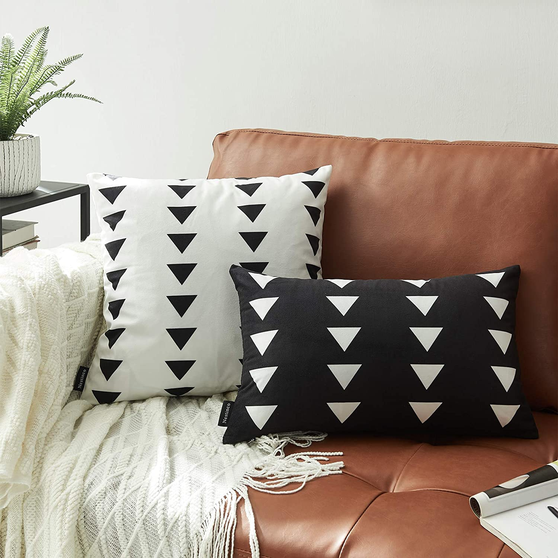CUSCO Stripe in Terracotta trendy Organic Euro Sham or Lumbar Cushion Case  KUFRI DESIGNER Pillow with zipper Designer Throw Pillow