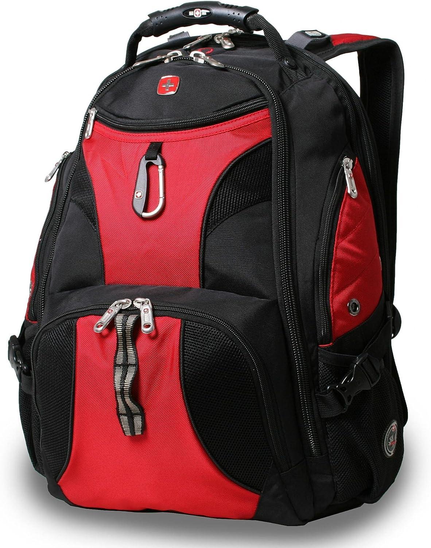SwissGear Travel Gear ScanSmart Backpack 1900 Red, 18-Inch