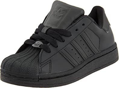 adidas Originals Superstar II Sneaker (Little Kid/Big Kid),Black/Black