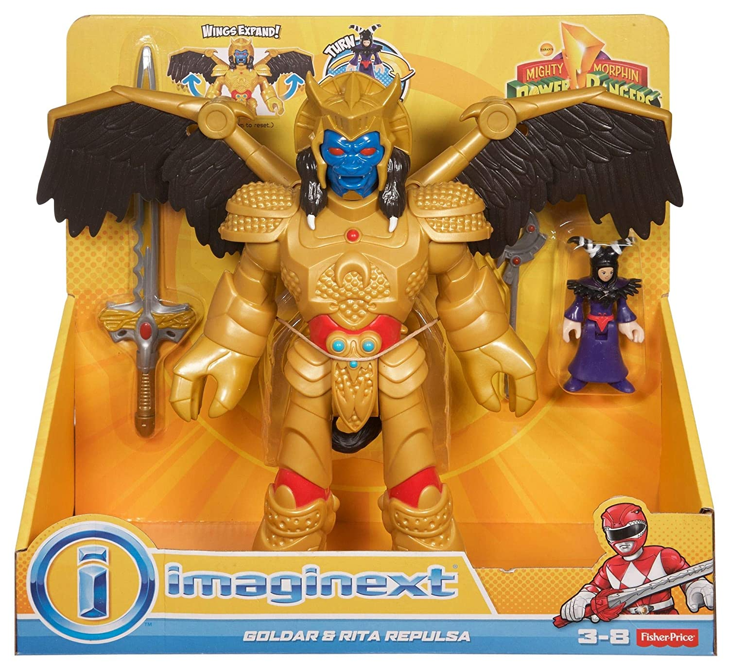 Imaginext CJP65 Figura de Goldar y Rita Repulsa de Power ...