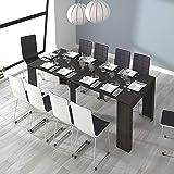 Habitdesign - Mesa de Comedor Consola Extensible, Mesa para Salon recibidor o Cocina (Gris Ceniza)