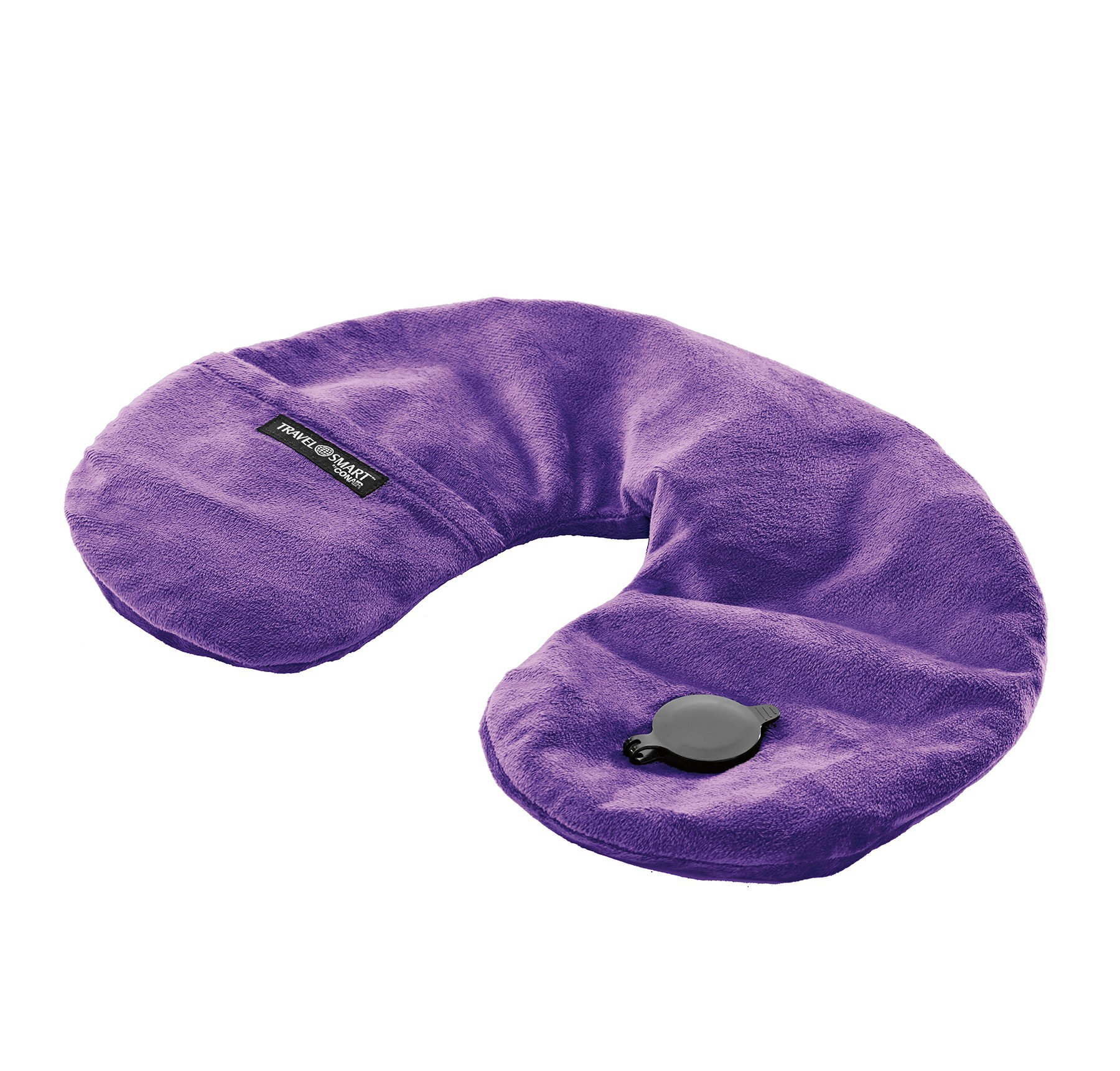 Travel Smart By Conair EZ Inflate Fleece Neck Pillow, Purple by Conair (Image #2)